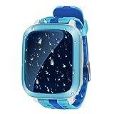 Reloj inteligente en forma de pulsera, impermeable, con GPS, rastreador a tiempo real, regalo para niños, 1,44 pulgadas, solo soporta tarjeta micro SIM, antipérdidas, monitor de emergencias, color azul