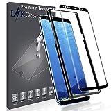 L K pour Protection Écran Samsung Galaxy S8 [9H Dureté] [Courbe 3D] [Couverture Complète] [Kit d'installation Offert] Verre Trempé Film Protection - Noir