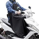 LOETAD Nässeschutz für Rollerfahrer Beinschutzdecke Fahrerbeinschutz Bein-/Wetterschutz für Motorradfahrer Schwarz