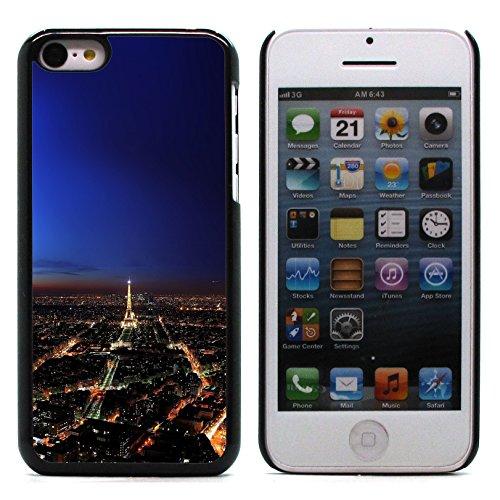 Graphic4You Paris At Night Skyline View Postkarte Ansichtskarte Design Harte Hülle Case Tasche Schutzhülle für Apple iPhone 5C Design #10