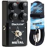 Black Star LT Pédale d'effet Metal F. Guitare électrique keepdrum Câble de Guitare 6m Gratuit.
