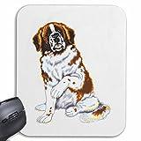 Reifen-Markt Mousepad (Mauspad) Bernhardiner Hundezucht HAUSHUND HUNDEZWINGER ZÜCHTER WELPE ERZIEHUNG Pflege für ihren Laptop, Notebook oder Internet PC (mit Windows Linux usw.) in Weiß