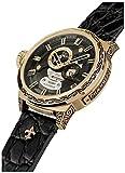 HÆMMER Out Breaker Skeleton Herren-Automatikuhr aus Edelstahl | Exklusiv Limitierte Herren-Uhr mit Kalbsleder Armband | Luxus-Uhr mit Inkgraved veredeltem Gehäuse