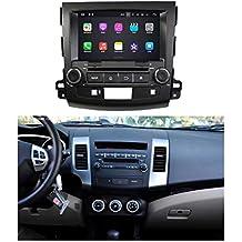 8 pulgadas 2 Din Coche Radio Android 7.1 OS para Mitsubishi Outlander 2006 2007 2008 2009 2010 2011 2012 2013,DAB+ radio 1024x600 Pantalla Táctil Capacitiva con 1.6G de la Cortex A9 Quad Core CPU 16G y 2G DDR3 RAM Flash GPS Navi DVD 3G/WIFI OBD2 Aux Entrada USB/SD DVR