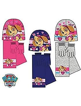 Paw Patrol Set Sciarpa cappellino e guanti bimba Skye Stella rosa 54