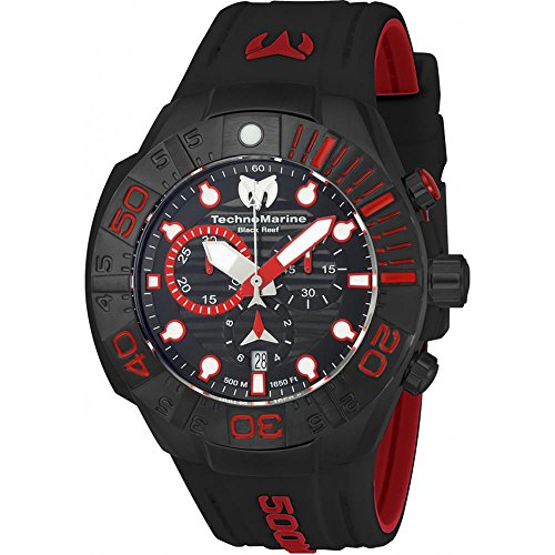 technomarine-mens-reef-45mm-black-silicone-band-plastic-case-quartz-analog-watch-tm-515018