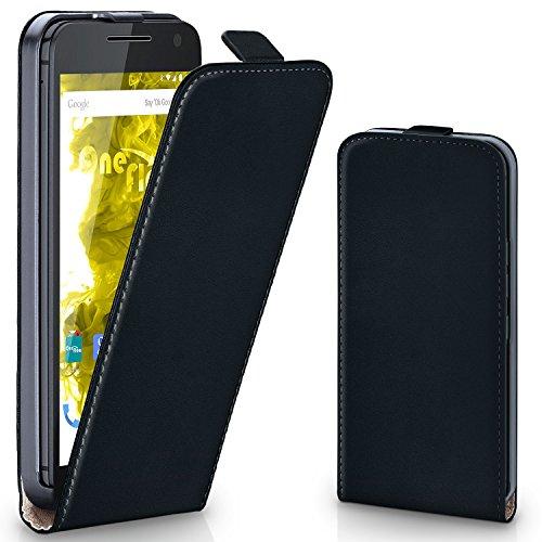 Motorola Moto G3 | Hülle Schwarz [OneFlow 360° Klapp-Hülle] Etui Thin Handytasche Dünn Handyhülle für Motorola Moto G 3. Generation Case Flip Cover Schutzhülle Kunst-Leder Tasche