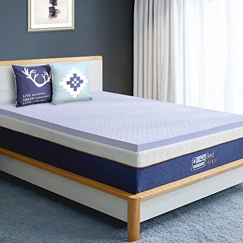 BedStory Topper aus Viscoschaum 160x200x5cm, Viskoelastische Matratzenauflagen für unbequeme Betten/Matratze/Boxspringbett, Premium H2 atmungsaktiv Matratzentopper Lavendelöl Matratzenschoner