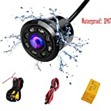 PolarLander Waterproof Car Parking Sauvegarde Reverse Rear View Camera 8 LED Night Vision 170 degrés couleur CCD Image 18.5mm Drill Hole