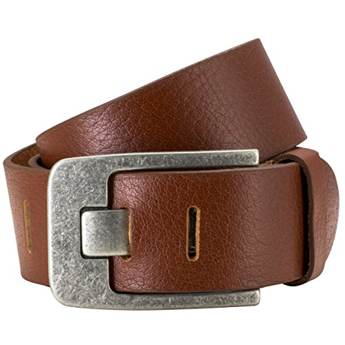 Lindenmann Mens Leather Belt/Mens Belt full grain leather cognac