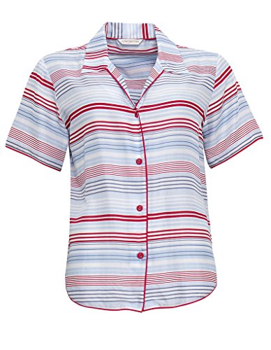 Cyberjammies 3274 Women's Heidi Blue and Red Stripe Modal Pajama Sleepwear PJs Pyjama Top - 51P8CoMpyFL - Cyberjammies 3274 Women's Heidi Blue and Red Stripe Modal Pajama Sleepwear PJs Pyjama Top