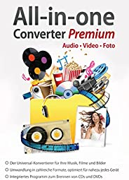 All in One Converter Premium - Video - Audio - Foto - Umwandlung, Bearbeitung, Konvertierung für Windows 10 /