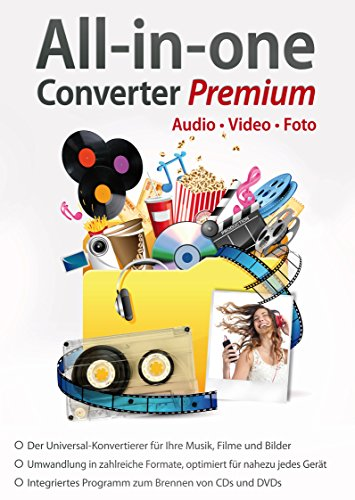 All in One Converter Premium - Video - Audio - Foto - Umwandlung, Bearbeitung, Konvertierung für Windows 10 / 8.1 / 7