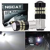 NATGIC Xenon Weiß -1157 Birne leuchtet extrem hell 1200LM 48-SMD 4014 Chipsätze BAY15D 1034 1196 7528 Glühbirnen mit Projektor für Blinker hinten-Side Back Lights (2er Set)