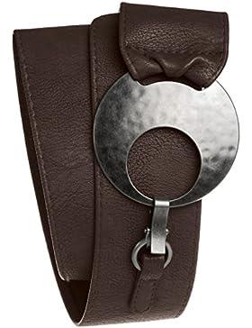 CASPAR GU225 Cinturón Ancho para Mujer con Hebilla Grande de Metal - Varios Colores
