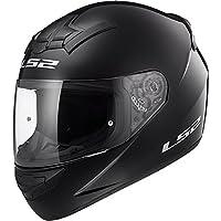 LS2 F351 SOLID GLOSS BLACK FULL FACE MOTORCYCLE HELMET SMALL