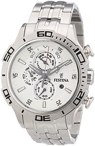 Reloj Festina F16565/1 de cuarzo para hombre con correa de acero inoxidable, color plateado de Festina