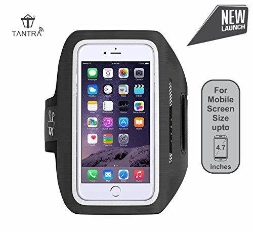 Tantra Enhandz Arm Band Adjustable Sports Anti-slip Ultra Light Weight Armband Mobile Holder(upto 4.7 inches like iphone 4,5,6& 6s(Black)(M Size)