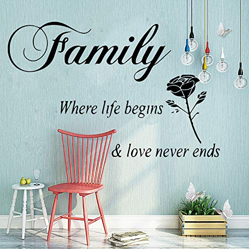 WSLIUXU Love Life Family Vinyl Wallpaper Roll Home Decoración del dormitorio Diy...
