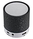 #5: EXIXA Rechargeable Bluetooth Speaker WITH LED Wireless Bluetooth Speaker with Handsfree Calling Feature, FM Radio & SD Card Slot - COLOUR BLACK