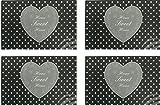 4er Tischset: Design Herz -