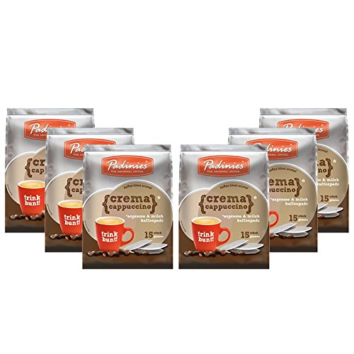 Padinies Crema Cappuccino Kaffeepads VPE (6x15Stk. Beutel)