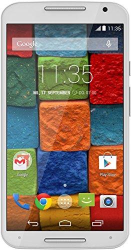 Motorola Moto X 2. Generation Smartphone (13,2 cm (5,2 Zoll) Full HD-Display, 13 Megapixel Kamera, Quad-Core Prozessor, 32GB interner Speicher, Android KitKat 4.4.4) weiß (Moto Zweiten Generation E Der)