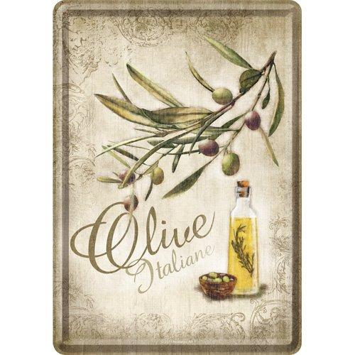 Nostalgic-Art 10170 Home & Country - Olive Italiane, Blechpostkarte 10x14 cm