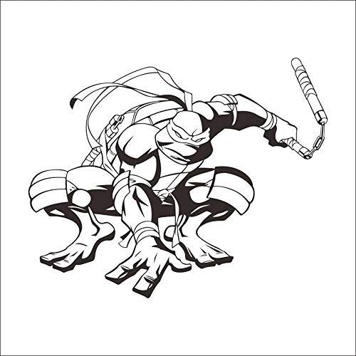 daufkleber Schlafzimmer Wandaufkleber namens Teenage Mutant Ninja Turtle Vinyl Wandtattoo für Kinderzimmer Kinderzimmer ()