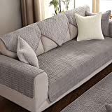 Non-Slip Sofa Cover Luxury Embroidered Sofa Covers Non-Slip Quilted Corner Sectional Sofa Cover Protective Cover 1/2 / 3 Seat Decoration,grey,110x240cm(43x94inch)