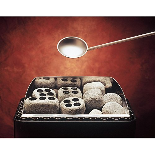 Dampfsteine aus Speckstein für den Saunaofen -Höyrykivet- Löcher: 20 ml x 4, 2 Stück (Hukka Design)