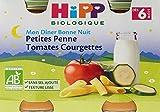 Hipp Biologique Mon Dîner Bonne Nuit Petites Penne Tomates Courgettes dès 6 mois - 12 pots de 190 g
