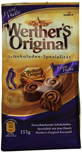 Preisvergleich Produktbild Werther's Original Feine Helle – Leckere,  zart schmelzende Bonbons aus Schokolade mit Karamell durchgezogen – 7 x 153g Beutel