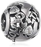 Pandora Damen-Bead Around the world 925 Silber Zirkonia transparent - 791718CZ