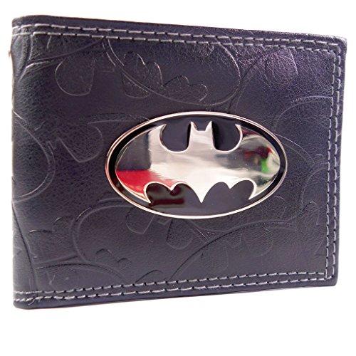 DC Comics Batman Badge & Bat Simboli Nero portafoglio