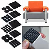 Jiaxing 16 PCS Aquare Adhesive Rubber Furniture Non Scratch Protector Pads