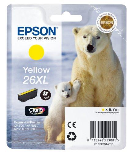 Epson T2634 Tintenpatrone Eisbär, Singlepack, gelb XL
