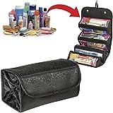 #9: EVANA 4 in 1 Travel Buddy Roll N Go Cosmetic Bag Organizer For Girls Ladies Women