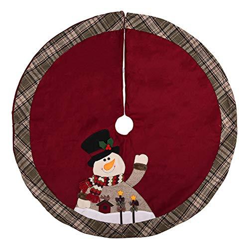 Da.Wa 1X 105cm Falda Arbol Navidad Manta Decorativa