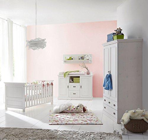 K & G Moebel GmbH Habitación de bebé, 5 Piezas, Cama de bebé, cómoda Cambiador, Estante de Pared...