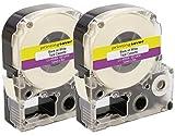 Printing Saver 2x LC-4WBN Schwarz auf Weiß 12 mm x 8 m Schriftbandkassetten kompatibel für Epson LabelWorks LW-300 LW-300L LW-400 LW-500 LW-600P LW-700 LW-900P LW-1000P Etikettendrucker