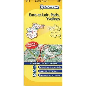 Michelin Map France: Eure-et-loir, Paris, Yvelines 311