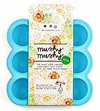 Behälter für Babynahrung von Mushy Mushy | Portionierer mit 9 x 75 ml für Babybrei, Beikost, Kompott und mehr zum Einfrieren und Aufbewahren | Sichere Aufbewahrung mit Deckel und BPA- freiem Silikon |