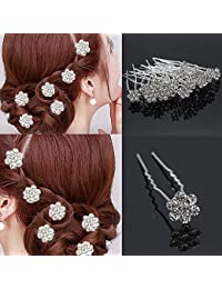 Paradise® Hair Pins For Women/Bridal Hair Accessories For Women And Girls/Juda Pins For Women (Silver 12 pc)