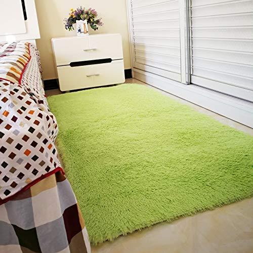 ZJMWQ Plüsch Carpet Flauschigen Shag Teppich Geeignet Für Wohnzimmer Schlafzimmer Dekoration Yoga Matte Kinder Spielmatte Baby Krabbeln Matte,FruitGreen-200 * 300cm (Baby Spielmatte Plüsch)