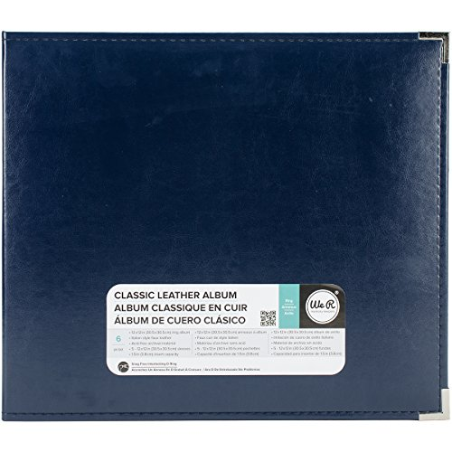 We R Memory Keepers American Crafts 660918 Classic D-Ring Scrapbooking Album, 12 Zoll x 12 Zoll, Marineblau (12 X 12 Scrapbook-seite Protektoren)