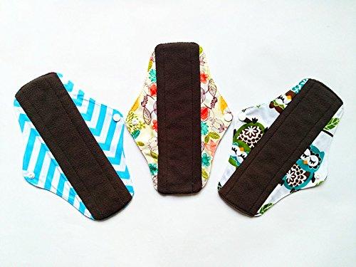 325,4cm anthrazit Bambus Tuch wiederverwendbar waschbar Pads Menstruationstasse Damenbinden Slipeinlagen