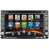 Autoradio 2 din GPS Universale Touch Screen HD 6.2 pollici DVD/CD/MP3/MP4/RADIO/USB/Scheda SD Mappa Europea Multimédia Player Stéréo Tuner Autoradio Bluetooth Hands Free con Telecomando