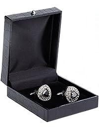 HYHAN Gemelos de lujo joya hombre de la moda vienen en una caja de presentación de almacenamiento elegante - en cualquier ocasión ser aplicable