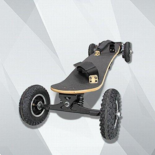GZD Figtingeagle Fuerte motor de cinturón de cuatro ruedas monopatín 1650W Skateboard eléctrico Monopatín eléctrico de cuatro ruedas con mando a distancia (negro)